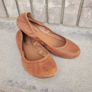 Lucky Brand Leather Emmie Flats ballet shoes